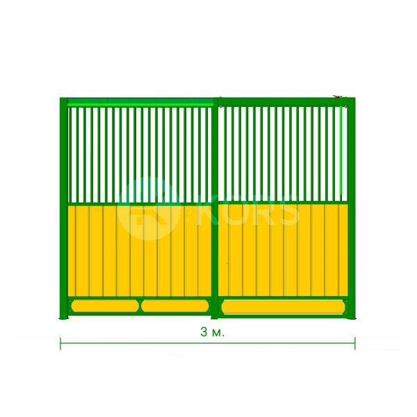Фасад денника 3 метра – сдвижная дверь