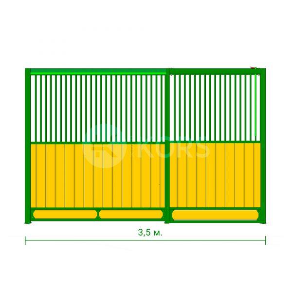 Фасад денника 3,5 метра – сдвижная дверь
