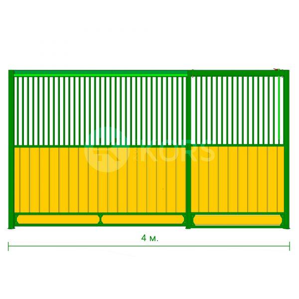 Фасад денника 4 метра – сдвижная дверь