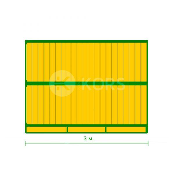 Перегородка денника сплошная 3 метра