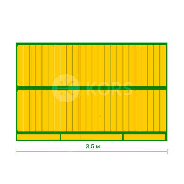 Перегородка денника сплошная 3,5 метра